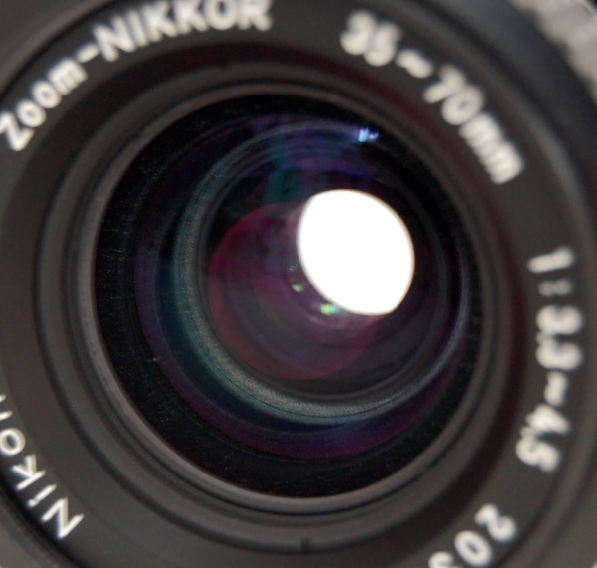 Nikon F3 ブラックボディ カメラ Zoom-NIKKOR 35-70mm 1:3.3-4.5 レンズ ニコン 一眼レフカメラ セット カバー付き ジャンク 1円から_画像9