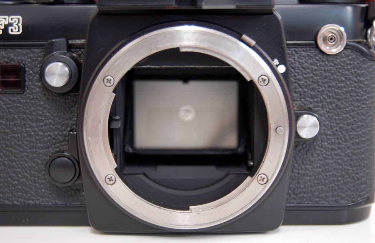 Nikon F3 ブラックボディ カメラ Zoom-NIKKOR 35-70mm 1:3.3-4.5 レンズ ニコン 一眼レフカメラ セット カバー付き ジャンク 1円から_画像7