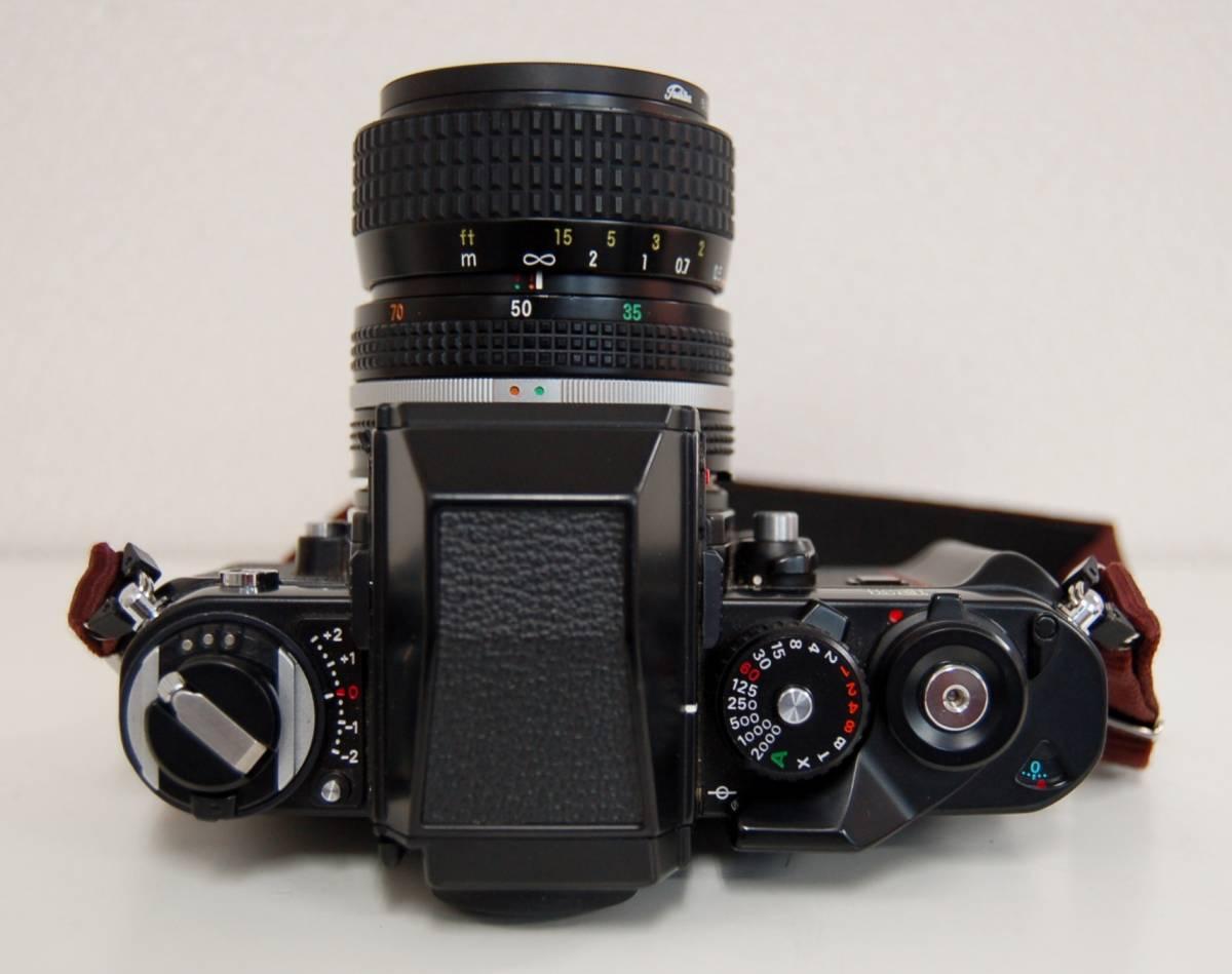 Nikon F3 ブラックボディ カメラ Zoom-NIKKOR 35-70mm 1:3.3-4.5 レンズ ニコン 一眼レフカメラ セット カバー付き ジャンク 1円から_画像4