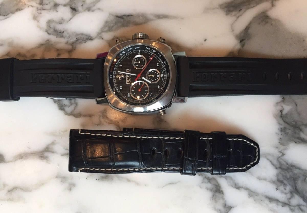本物 150万円 PANERAI パネライ フェラーリ・グラントゥーリズモ・ラトラパンテ自動巻きFER00005 メンズ腕時計【2回のみ使用の極美品】_画像8