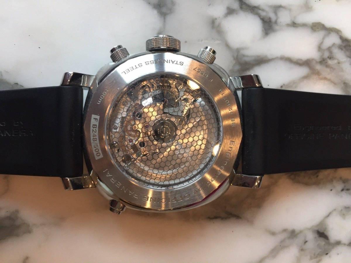 本物 150万円 PANERAI パネライ フェラーリ・グラントゥーリズモ・ラトラパンテ自動巻きFER00005 メンズ腕時計【2回のみ使用の極美品】_画像4