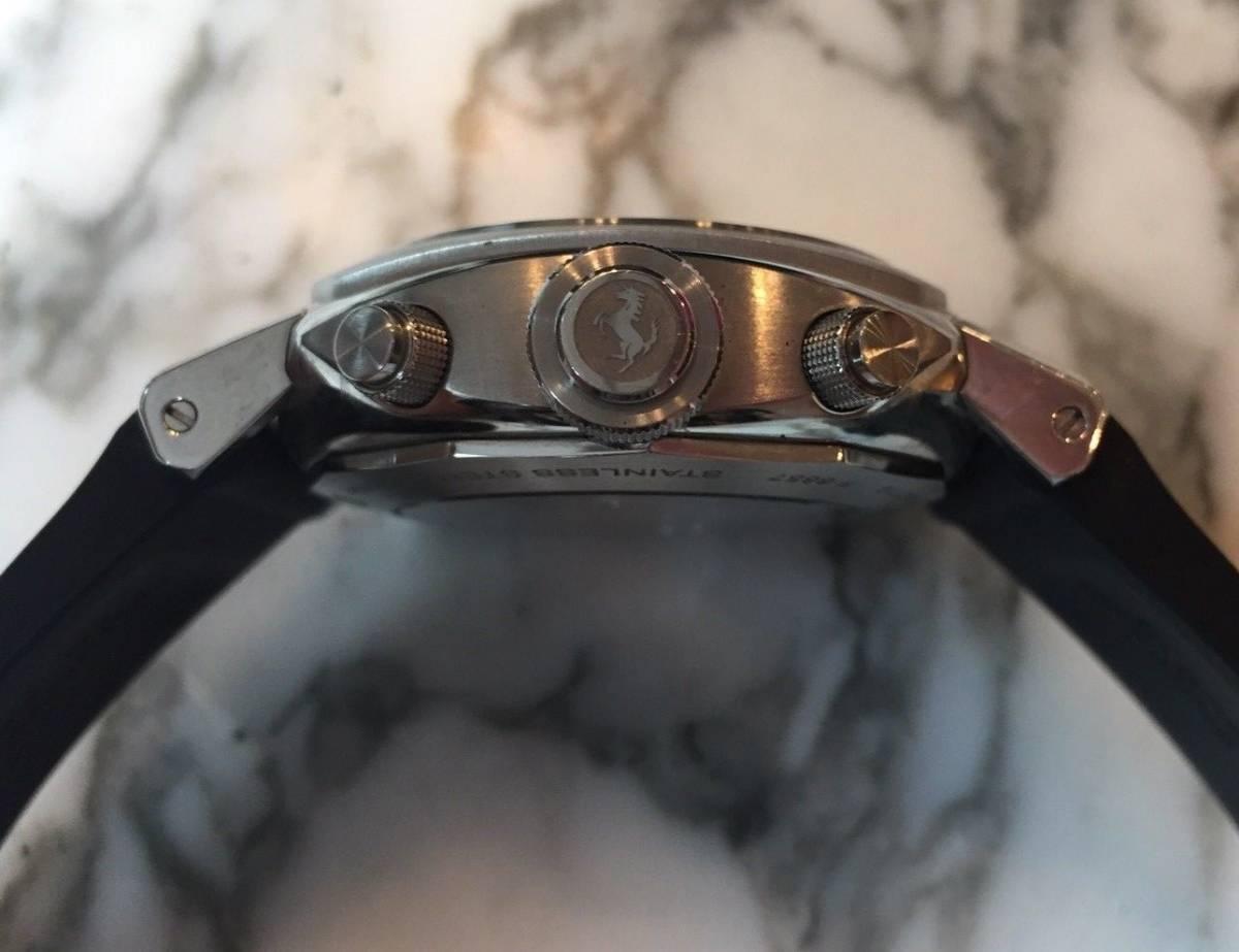本物 150万円 PANERAI パネライ フェラーリ・グラントゥーリズモ・ラトラパンテ自動巻きFER00005 メンズ腕時計【2回のみ使用の極美品】_画像7