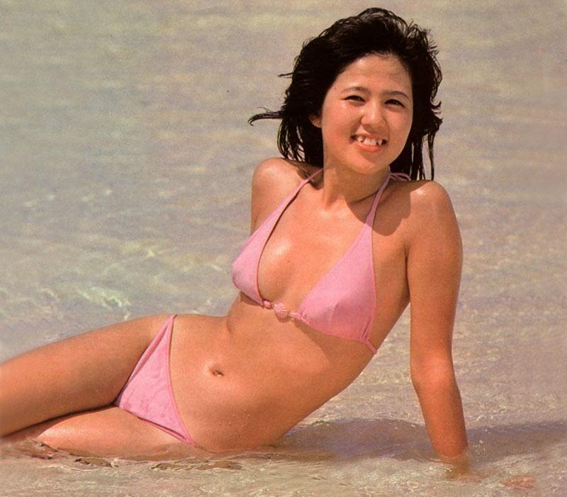石野真子L判写真10枚 水着 透け セクシー写真