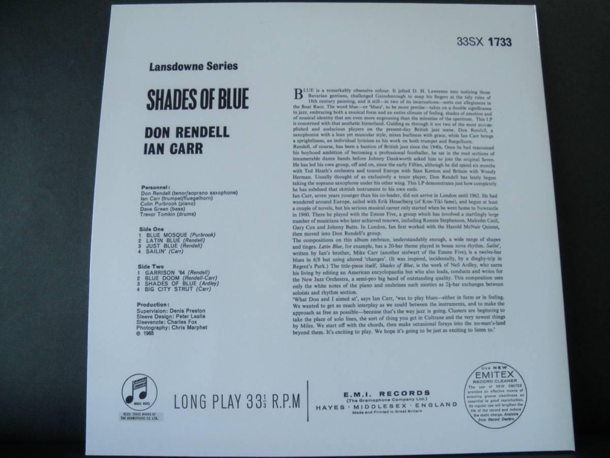 【英Columbia・Limited Reissue】Don Rendell, Ian Carr/SHADES OF BLUE★オリジナルジャケット★_画像3