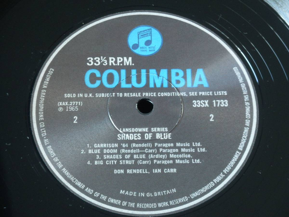 【英Columbia・Limited Reissue】Don Rendell, Ian Carr/SHADES OF BLUE★オリジナルジャケット★_画像5