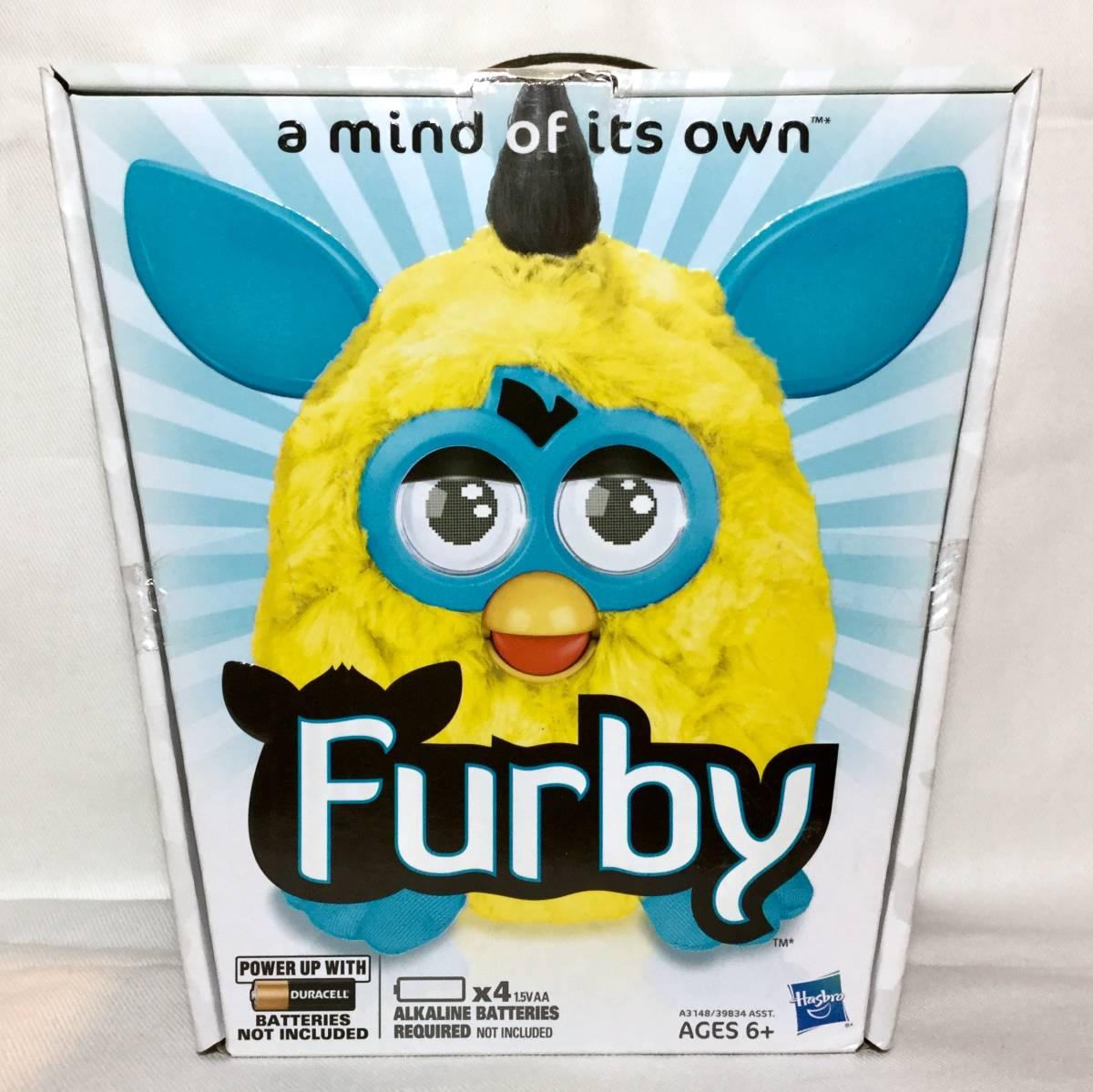 日本未発売☆ 2012製 ファービー Furby イエロー ブルー アメリカ版 英語バージョン HASBRO 新品未使用