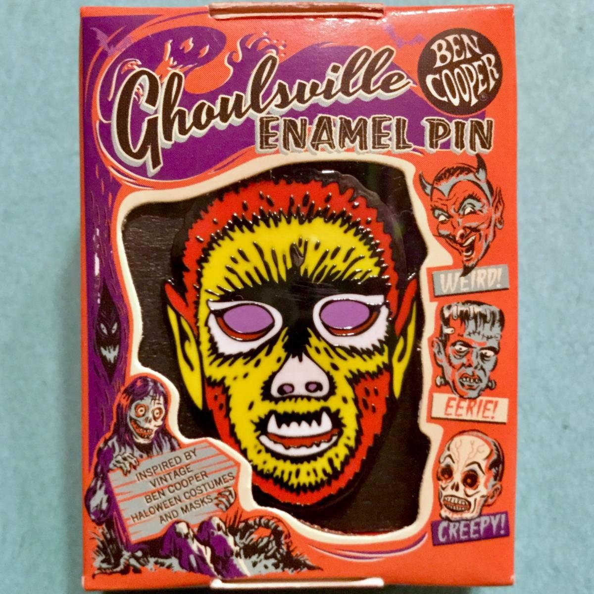 BEN COOPER ハロウィンマスク風 ウルフマン ピンズ 狼男 wolfman モンスター Monster ピンバッジ ピンバッチ Pins ベンクーパー Halloween