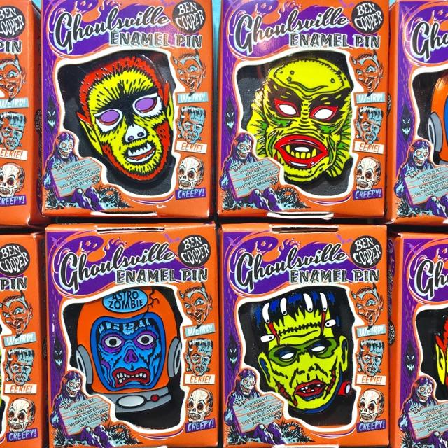 BEN COOPER ハロウィンマスク風 ウルフマン ピンズ 狼男 wolfman モンスター Monster ピンバッジ ピンバッチ Pins ベンクーパー Halloween_画像5