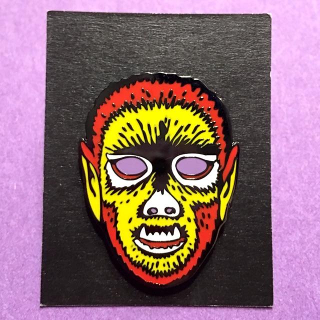 BEN COOPER ハロウィンマスク風 ウルフマン ピンズ 狼男 wolfman モンスター Monster ピンバッジ ピンバッチ Pins ベンクーパー Halloween_画像2