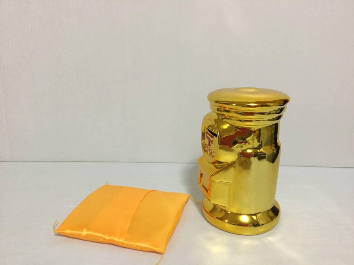 ゆうちょの貯金箱 非売品 金色 金運に恵まれる貴重な金色の貯金箱 未使用品 自宅保管品 高さ約18cm 横約11cm_画像5