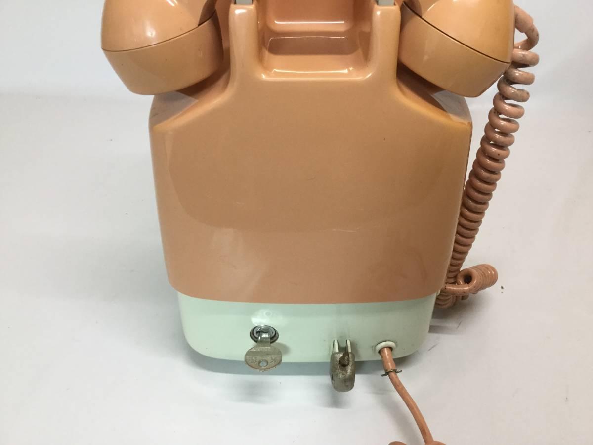 日本電信電話公社 NTT 675S-A2 ダイヤル式 公衆電話 ピンク 昭和 レトロ_画像4
