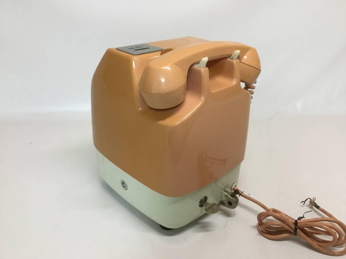 日本電信電話公社 NTT 675S-A2 ダイヤル式 公衆電話 ピンク 昭和 レトロ_画像5