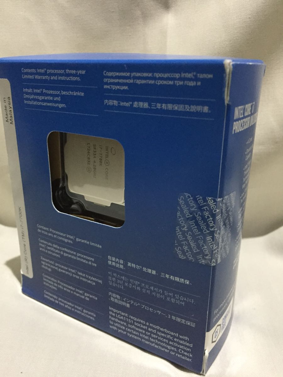 Intel Core i7-7700K 未開封品【箱不良】_画像3