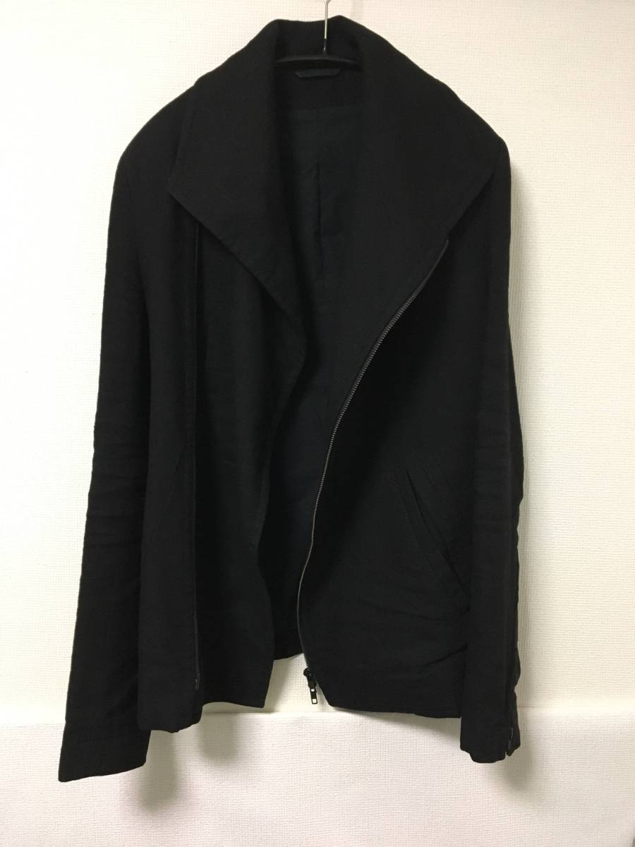 ★ ANN DEMEULEMEESTER ジャケット ブルゾン ライダース ブラック XXS