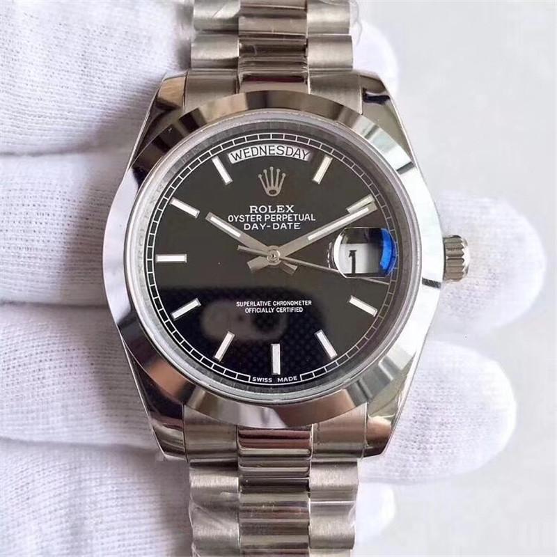 ロレックス デイデイト 118239 メンズ 自動巻き黒文字盤 中古 希少 メンズ 時計