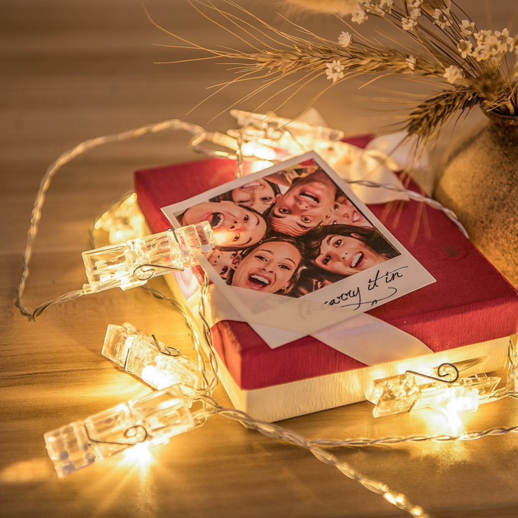 きらきら飴色 光るクリップガーランド カードクリップ LEDライト 写真立て パーティー 結婚式 誕生日 記念日に_画像4