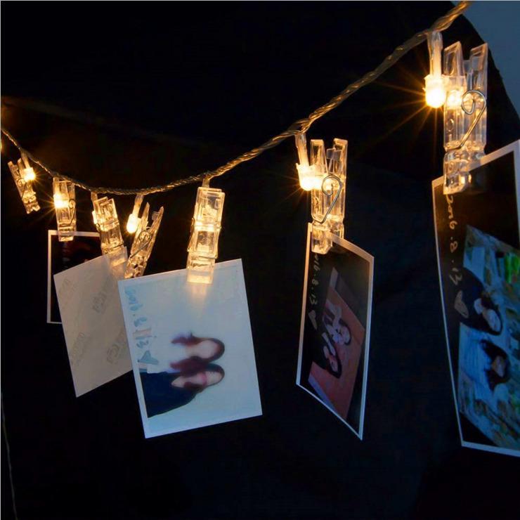 きらきら飴色 光るクリップガーランド カードクリップ LEDライト 写真立て パーティー 結婚式 誕生日 記念日に_画像6