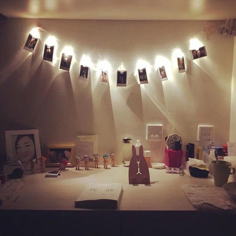 きらきら飴色 光るクリップガーランド カードクリップ LEDライト 写真立て パーティー 結婚式 誕生日 記念日に_画像3