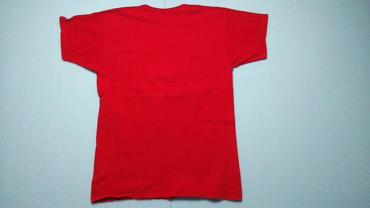 アメリカ古着80年代ChampionチャンピオントリコタグビンテージプリントTシャツ コットン100% サイズXL アメリカ製 赤 レッド_画像5