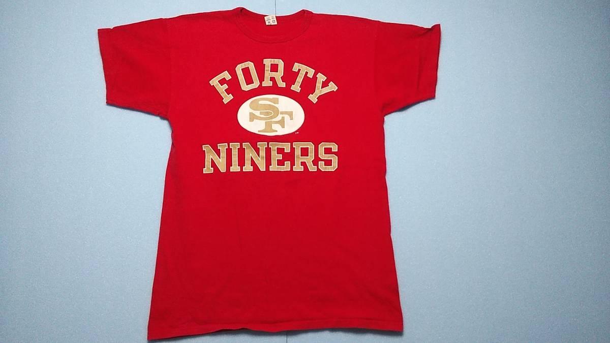 アメリカ古着80年代ChampionチャンピオントリコタグビンテージプリントTシャツ コットン100% サイズXL アメリカ製 赤 レッド_画像4