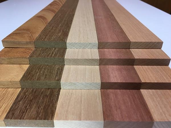 送料無料 (同梱品も♪) ケヤキ チーク シルバーハート ニヤトー マカバ 20本 400x39x9ミリ 薄板 木材 DIY 板材 クラフト 木工 工作材