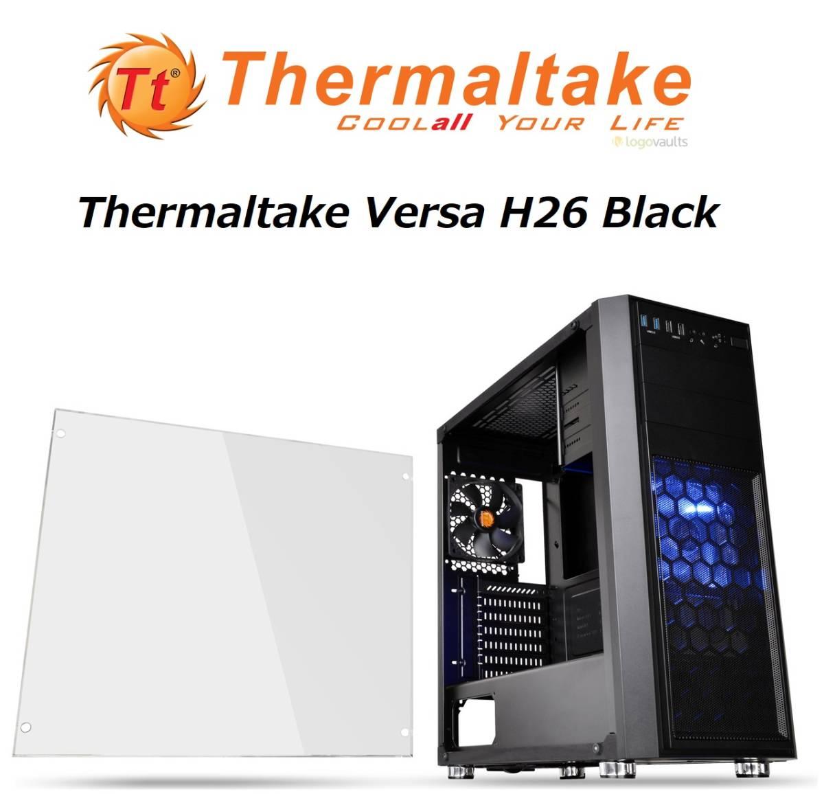 新品 ☆Thermaltake Versa H26 Black /w casefan ミドルタワー型PCケース [ブラックモデル] CS7070 CA-1J5-00M1WN-01 ☆