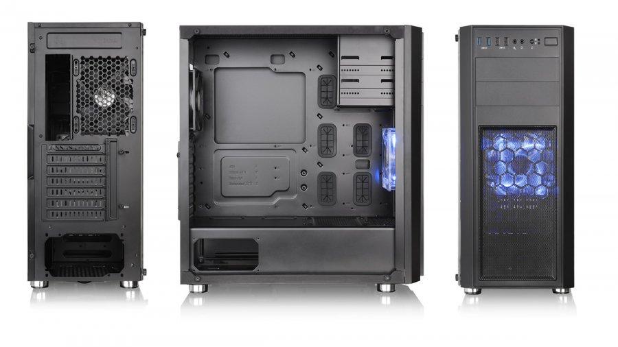 新品 ☆Thermaltake Versa H26 Black /w casefan ミドルタワー型PCケース [ブラックモデル] CS7070 CA-1J5-00M1WN-01 ☆_画像3