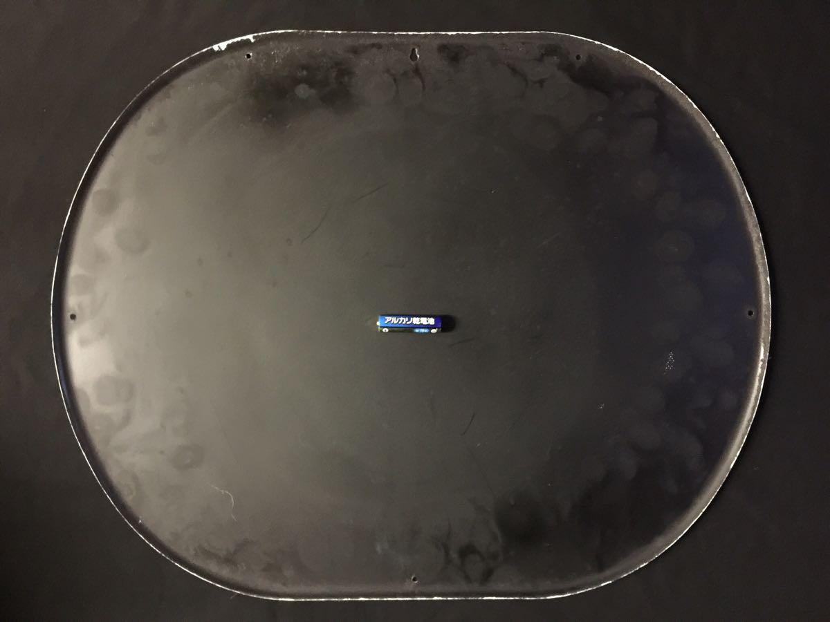 ★【由美かおる//アース渦巻 かとり線香】アース製薬・大塚グループ/楕円型琺瑯看板・保管品★_画像7