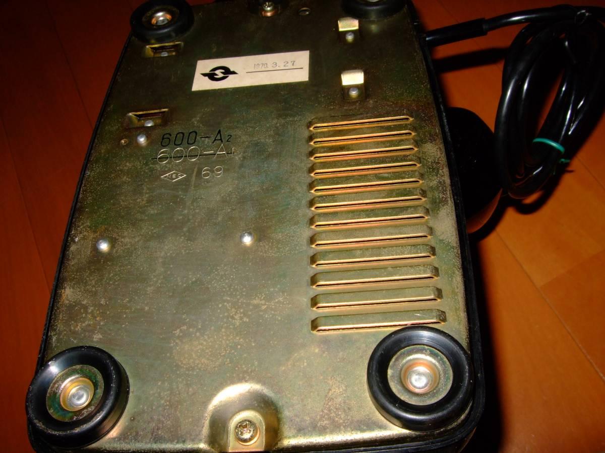 ◆昭和 日本電気/NEC製 電話機◆4号 黒電話◆昭和40年代◆光回線可/モジュラー接続可能/動作品_画像7