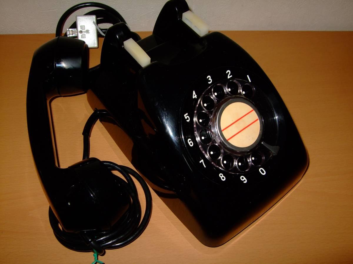 ◆昭和 日本電気/NEC製 電話機◆4号 黒電話◆昭和40年代◆光回線可/モジュラー接続可能/動作品_画像5