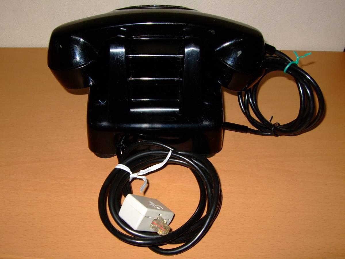 ◆昭和 日本電気/NEC製 電話機◆4号 黒電話◆昭和40年代◆光回線可/モジュラー接続可能/動作品_画像4