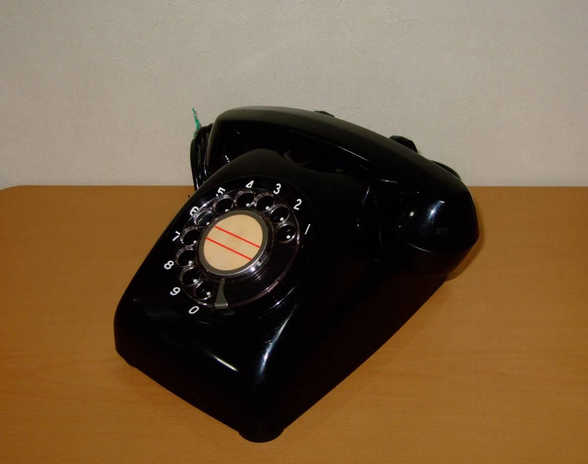 ◆昭和 日本電気/NEC製 電話機◆4号 黒電話◆昭和40年代◆光回線可/モジュラー接続可能/動作品_画像2