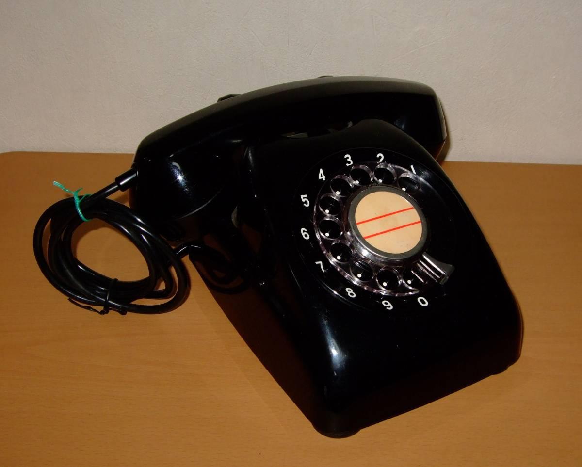 ◆昭和 日本電気/NEC製 電話機◆4号 黒電話◆昭和40年代◆光回線可/モジュラー接続可能/動作品_画像3
