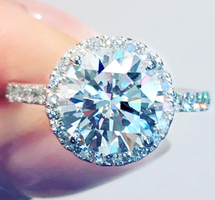 《DIAMOND 2ctUP!》PT950 ダイヤモンド 2.032ct!! SI2