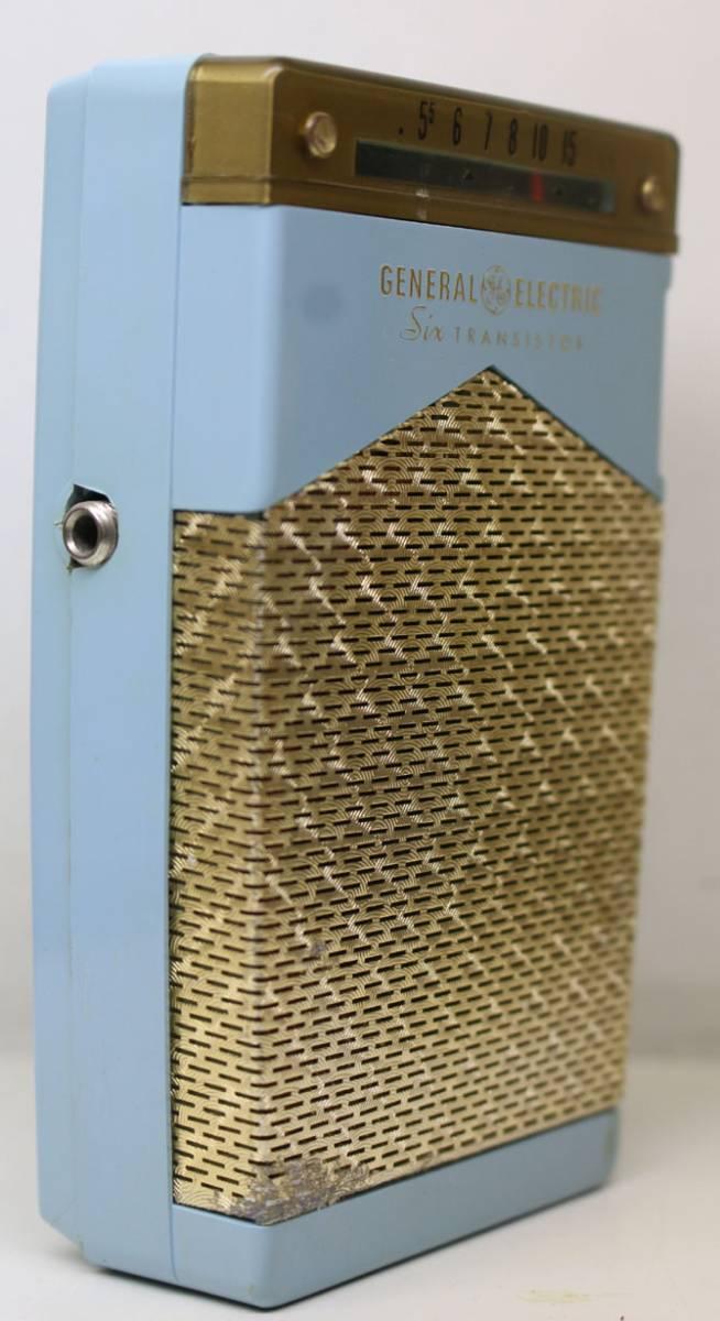 ◆◆1950-60年代/GENERAL ELECTRIC P831C-BLUE/トランジスターラジオ/GE社/6TRANSISTOR/MADE IN U.S.A./as is/オリジナルケース付き_画像5