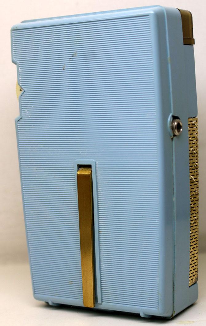 ◆◆1950-60年代/GENERAL ELECTRIC P831C-BLUE/トランジスターラジオ/GE社/6TRANSISTOR/MADE IN U.S.A./as is/オリジナルケース付き_画像6