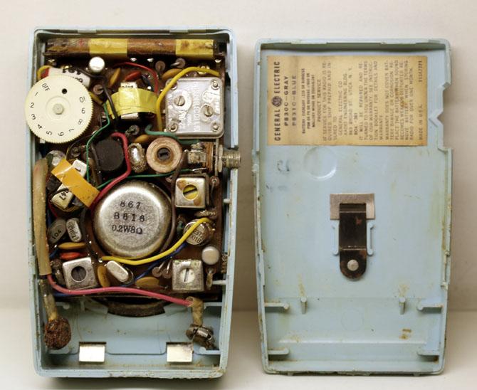 ◆◆1950-60年代/GENERAL ELECTRIC P831C-BLUE/トランジスターラジオ/GE社/6TRANSISTOR/MADE IN U.S.A./as is/オリジナルケース付き_画像7