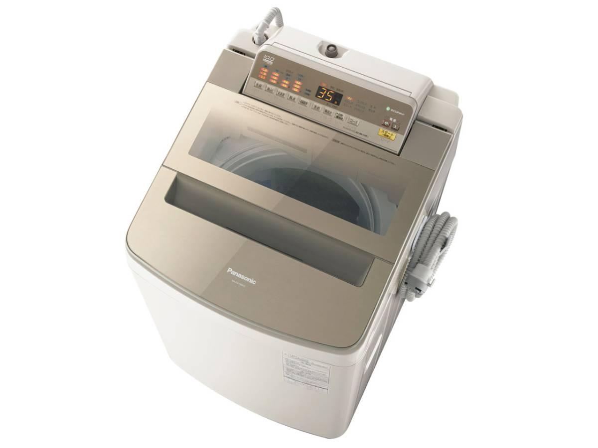 【 新品同様 未使用品 】 2017年製 パナソニック 《ECONAVI》 NA-FA100H5-N 全自動 洗濯