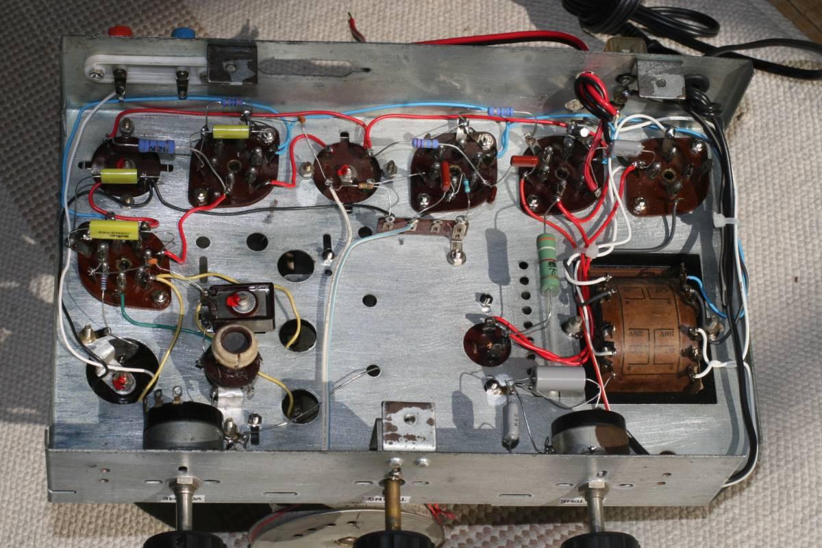真空管ラジオ 自作ST管5球スーパーラジオ 感度良好    _画像3