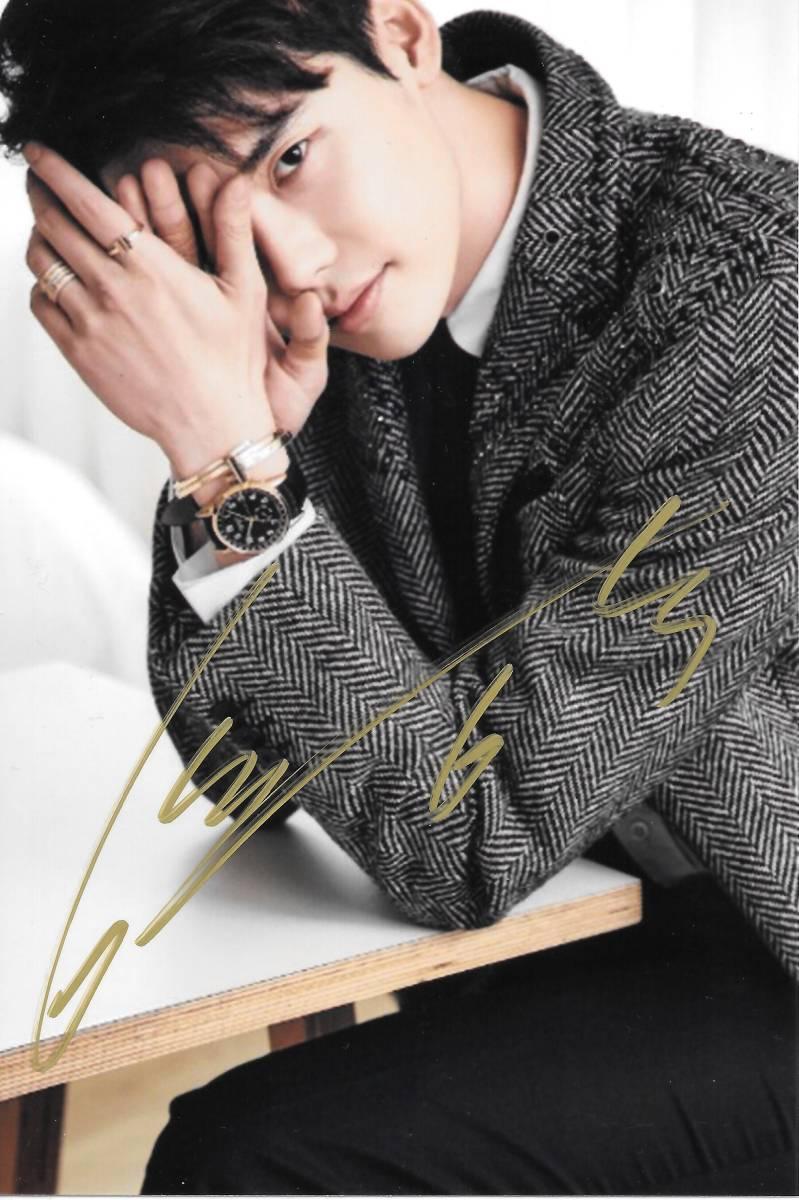 16.10★イ・ジョンソク★「W-君と僕の世界」直筆サイン入り公式生写真 590