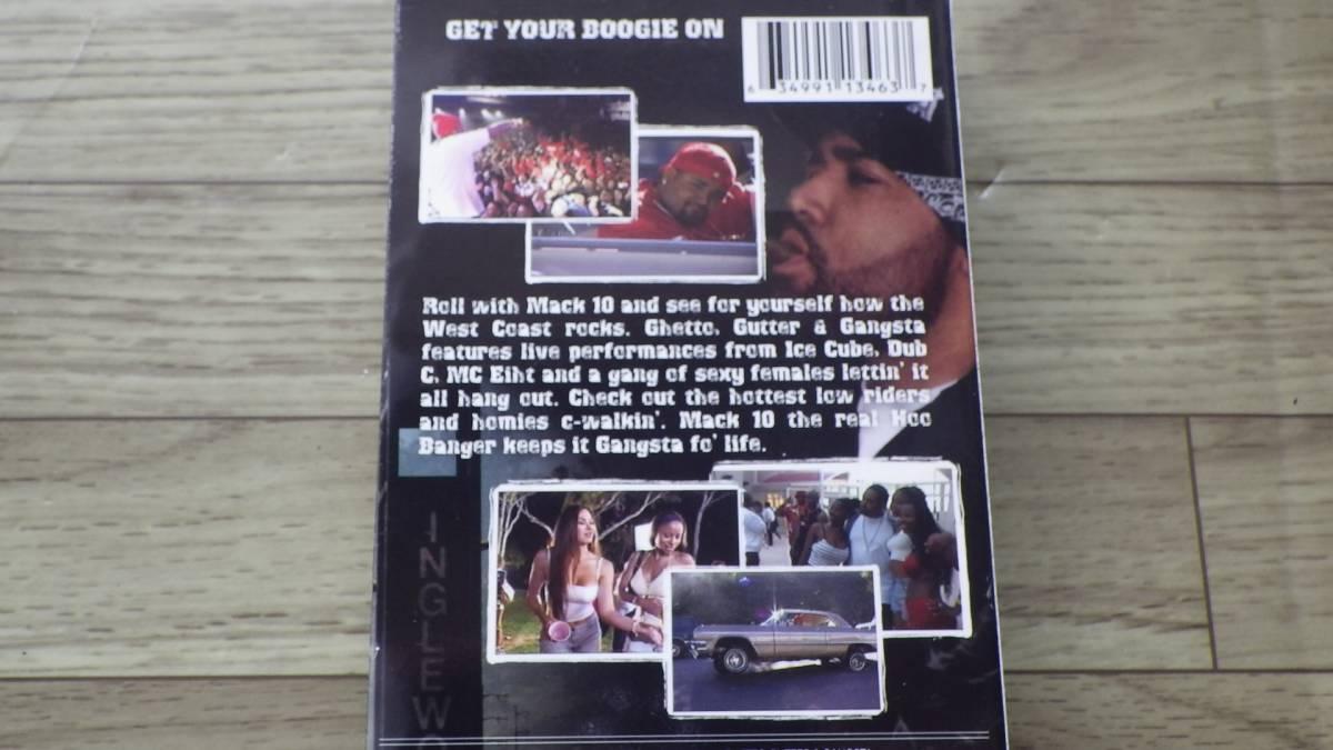MACK 10 GHETTO GUTTER & GANGSTA VHS ウエストサイド ヒップホップ HIP HOP ビデオ
