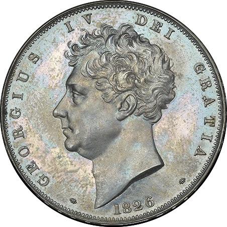 80年ぶり 1826年 英国 ジョージ4世 8枚プルーフ金貨&銀貨セット_画像6