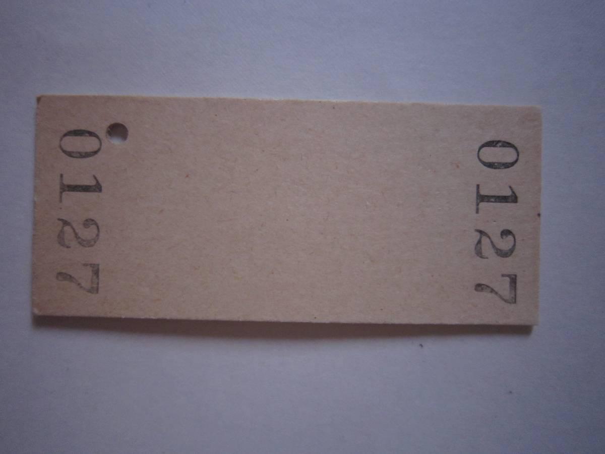 【昭和55年無人化】室蘭線 有珠駅 硬券入場券_画像2