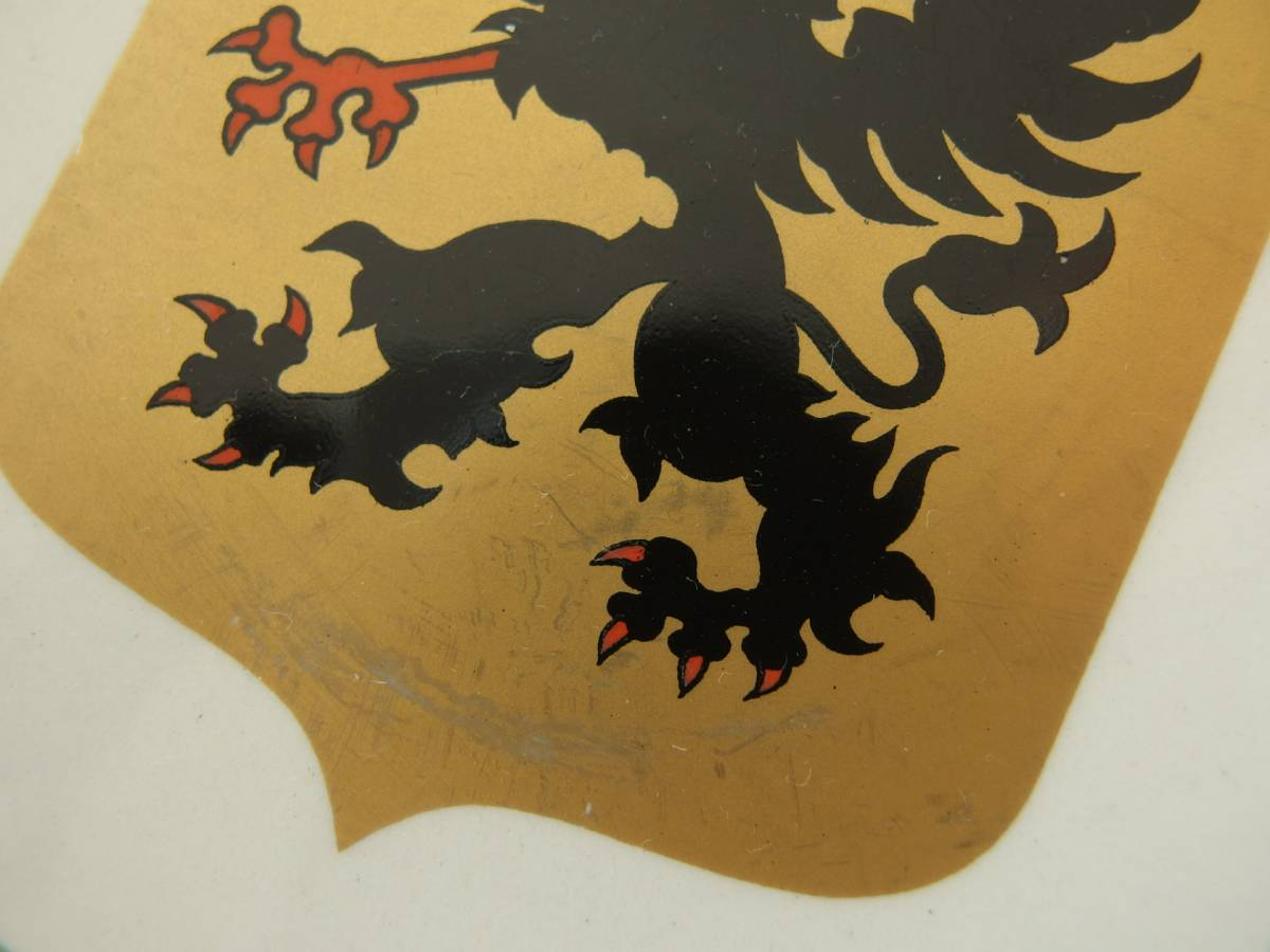 ¥値下げ!スウェーデン Upsala Ekeby Gefle ウプサラエクビー ゲフレ 1966年 記念プレート/飾り皿「Sodermanland/セーデルマンランド」_県旗の金色は経年による変色、変化あり