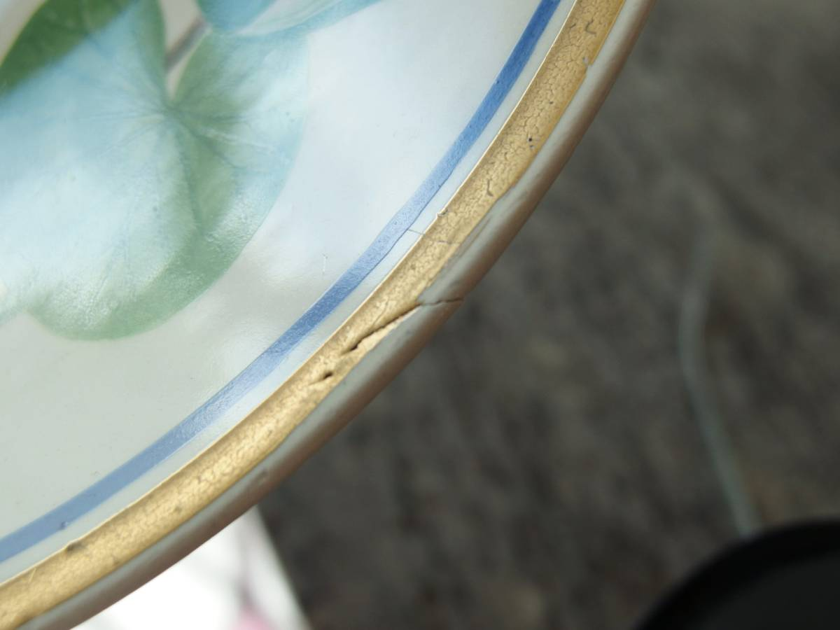 ¥値下げ!スウェーデン Upsala Ekeby Gefle ウプサラエクビー ゲフレ 1966年 記念プレート/飾り皿「Sodermanland/セーデルマンランド」_製造時できた窯傷と思われます。