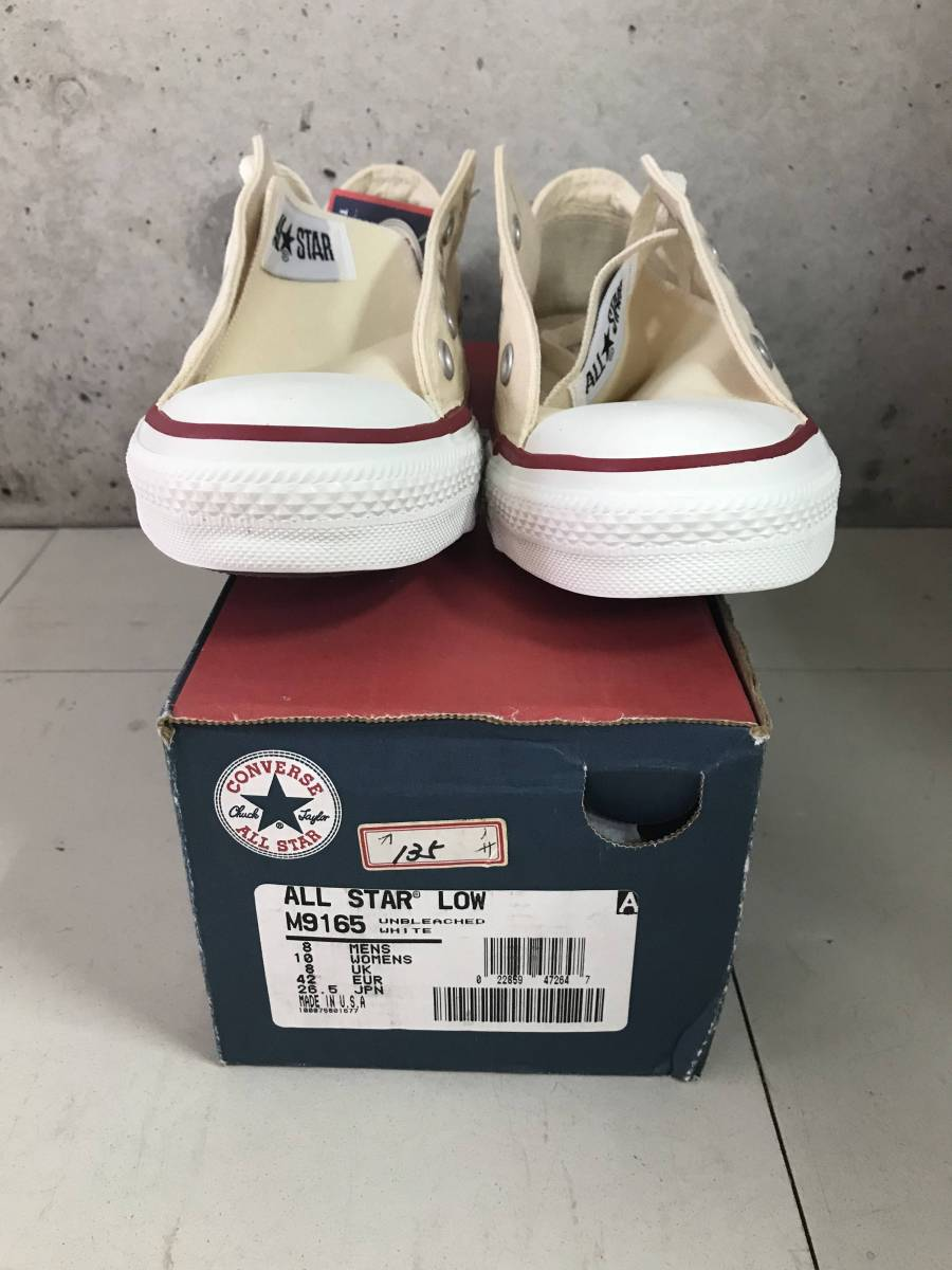 dff847842622 new goods USA made original box attaching dead stock Vintage CONVERSE  Converse all Star zipper Taylor white US8 26.5cm