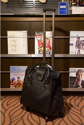 新品 未使用 キャリーバッグ スーツケース 機内持ち込み可能 収納豊富 多機能 持ち運び便利 黒 ブラック クロコ 型押し ビジネス 鰐 旅行用