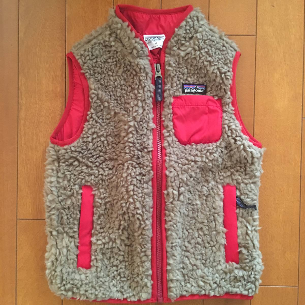 送料無料◆パタゴニア◆新品・超かわいい◆ベビー・レトロX・ベスト / Baby Retro-X Vest / 4T フリース フワフワ もこもこ