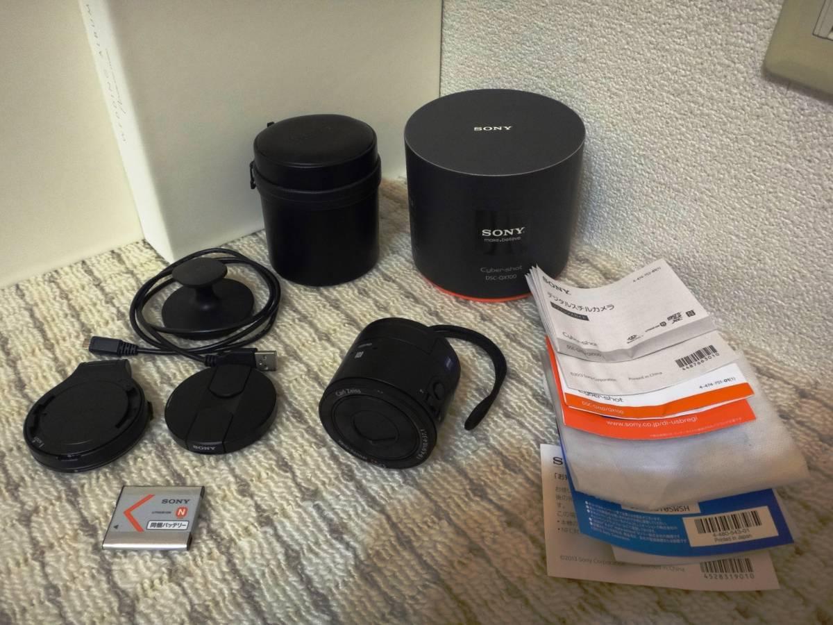 美品 Sony DSC-QX100 デジカメ Cyber-shot 1.0型センサ F1.8