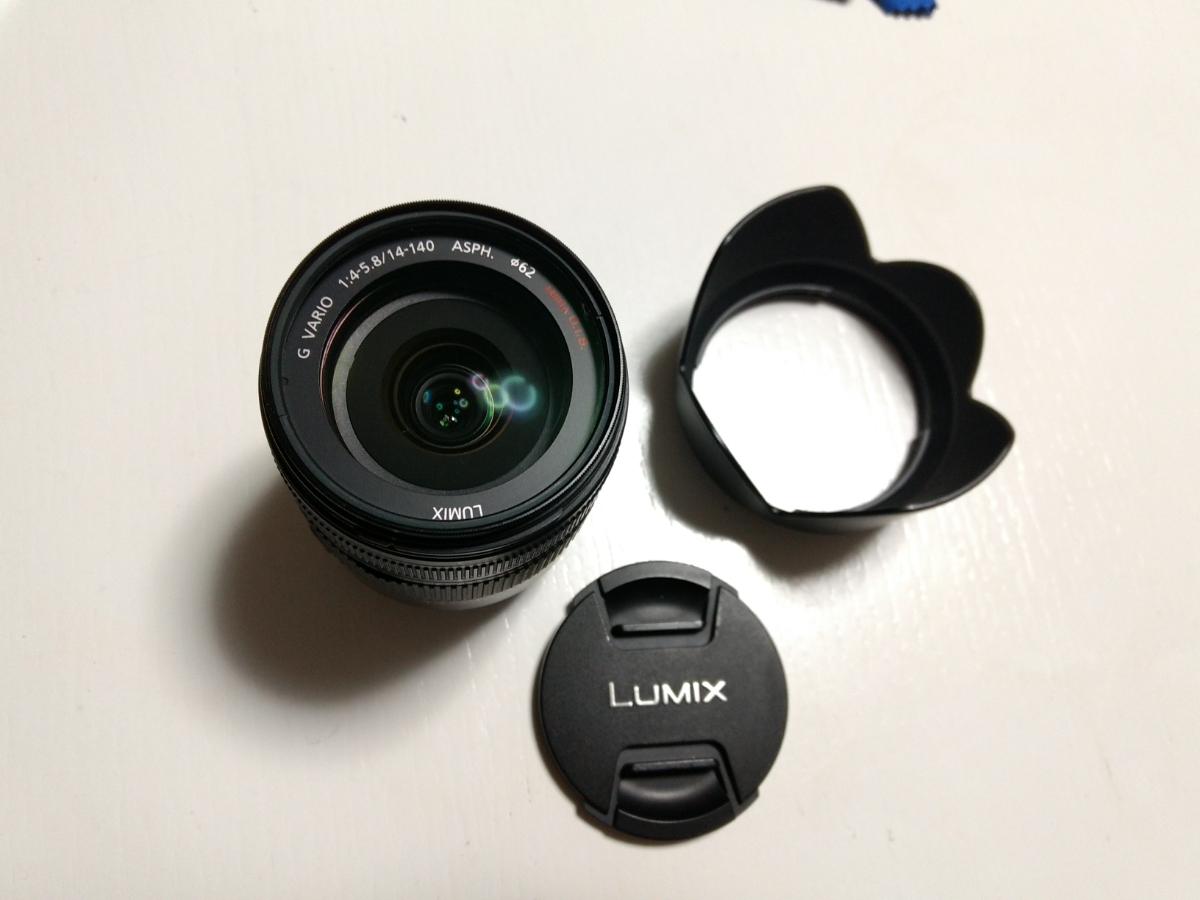 中古 美品 Panasonic ズームレンズ LUMIX G VARIO HD 14-140mm/F4.0-5.8 ASPH. 10倍ズー